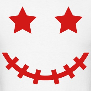 White Voodoo Smiley V3 T-Shirts - Men's T-Shirt