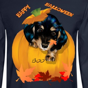 Halloween Dashund Puppy-Boo - Men's Long Sleeve T-Shirt