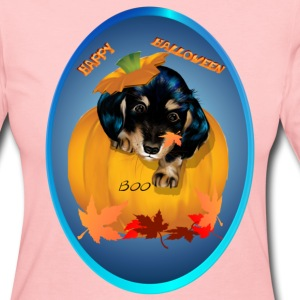 Dashund Puppy Halloween-Boo - Women's Long Sleeve Jersey T-Shirt