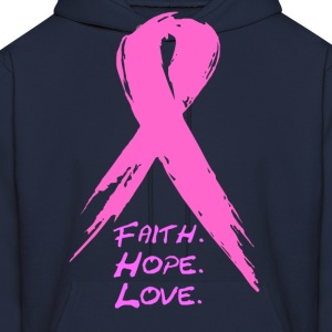 grunge ribbon awareness Hoodies - Men's Hoodie