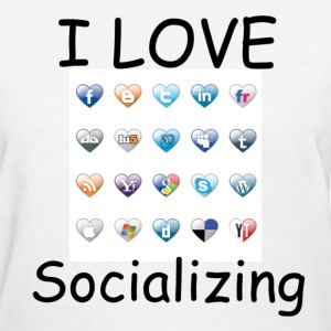 Women's I Love Social Media Tee - Women's T-Shirt
