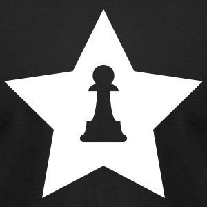 Black Pawn Star T-Shirts - Men's T-Shirt by American Apparel