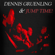Design ~ Dennis Gruenling & Jump Time! black t-shirt