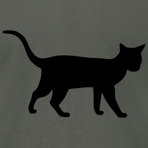 Asphalt Cat T-Shirts - Men's T-Shirt by American Apparel