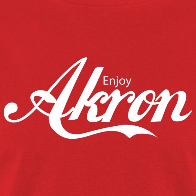 Enjoy Akron - White