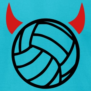 Turquoise Volleyball T-Shirts - Men's T-Shirt by American Apparel