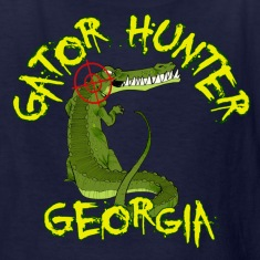 Navy Gator Hunter Georgia Kids' Shirts
