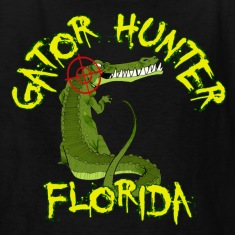 Black Gator Hunter Florida Kids' Shirts