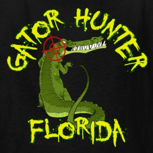 Black Gator Hunter Florida Kids' Shirts - Kids' T-Shirt