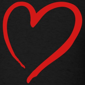 Black Heart T-Shirts - Men's T-Shirt
