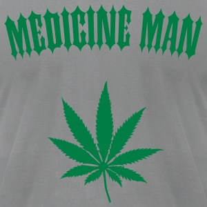 Medicine Man - Marijuana Leaf (1-color custom) T-Shirts - Men's T-Shirt by American Apparel