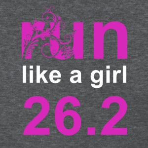Deep heather run like a girl 26.2 Women's T-Shirts - Women's T-Shirt