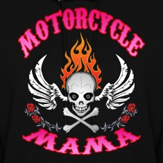Black MotorCycle Mama  Hoodies