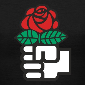 Socialist Red Rose - Women's V-Neck T-Shirt
