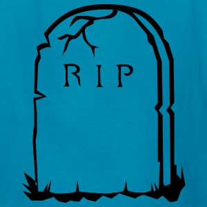 Orange RIP gravestone halloween Kids' Shirts - Kids' T-Shirt