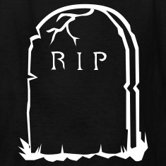 Black RIP gravestone halloween Kids' Shirts