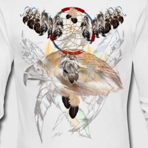 Dreamcatcher and Hawk Face - Men's Long Sleeve T-Shirt by Next Level
