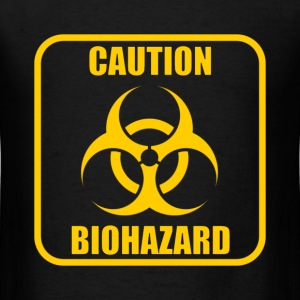Caution Biohazard T-Shirt - Men's T-Shirt