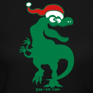 Christmas Tyrannosaurus Rex Long Sleeve Shirts - Women's Long Sleeve Jersey T-Shirt
