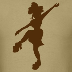 FUNKY sexy 70s dancing girl T-Shirts