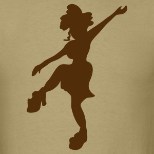 FUNKY sexy 70s dancing girl T-Shirts - Men's T-Shirt