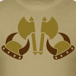 VIKING AXES AND HELMETS medieval weapons T-Shirts - Men's T-Shirt