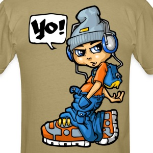 B boy and mp3 T-Shirts - Men's T-Shirt