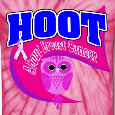 Hoot About Breast Cancer Pink Dark Purple
