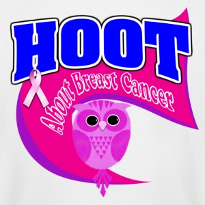Hoot About Breast Cancer Pink Dark Purple - Men's Tall T-Shirt