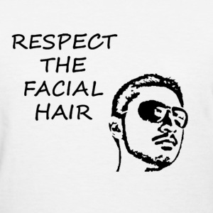 FACIAL HAIR BLACK (WOMEN'S) - Women's T-Shirt