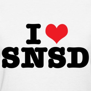 I HEART SNSD  - Women's T-Shirt