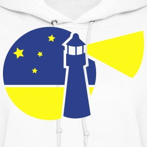 lighthouse design in a circle watch tower Hoodies - Women's Hoodie