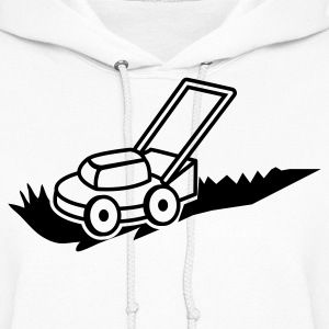 lawn mower mowing contractor cutting grass Hoodies - Women's Hoodie