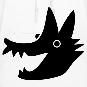 red riding hood wolf face smiling Hoodies - Women's Hoodie