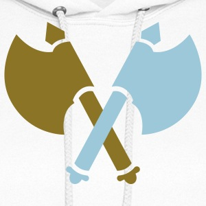VIKING AXES crossed medieval weapons Hoodies - Women's Hoodie