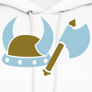 VIKING AXE and helmet medieval weapon Hoodies - Women's Hoodie