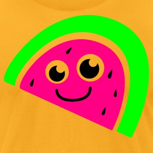 really cute kawaii watermelon with a smile T-Shirts - Men's T-Shirt by American Apparel