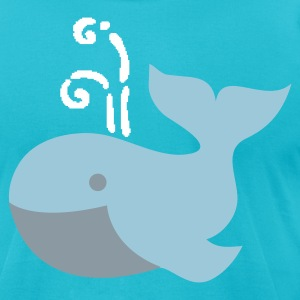 cute plump whale vintage whimsical T-Shirts - Men's T-Shirt by American Apparel