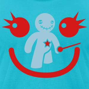voodoo happy children smiley face T-Shirts - Men's T-Shirt by American Apparel