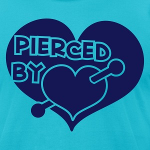 pierced by love  T-Shirts - Men's T-Shirt by American Apparel
