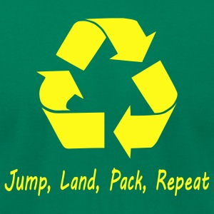 Jump Land Pack Repeat T-Shirts - Men's T-Shirt by American Apparel