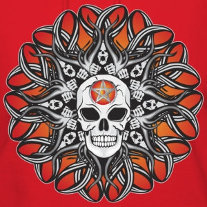 Goth Skulls - Orange Hoodies - Women's Hoodie