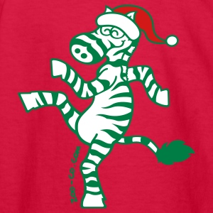 Christmas Zebra Kids' Shirts - Kids' Long Sleeve T-Shirt