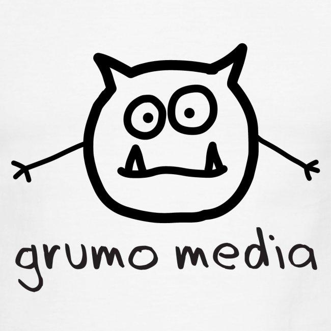 Grumo Media with GRR! on back - Ringer Tee for Men