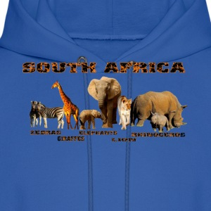 African Wildlife Collage - Men's Hoodie