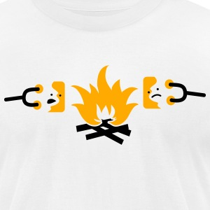 roasting sad marshmallows on a campfire T-Shirts - Men's T-Shirt by American Apparel