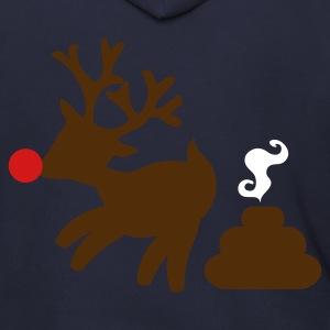RUDOLPH the red nosed POOPER i have christmas Zip Hoodies/Jackets - Men's Zip Hoodie