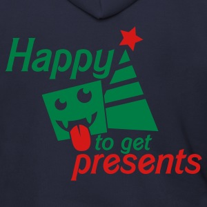 HAPPY to get PRSENTS i hate christmas Zip Hoodies/Jackets - Men's Zip Hoodie