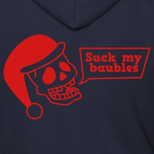 SUCK MY BAUBLES xmas skull i hate christmas Zip Hoodies/Jackets - Men's Zip Hoodie