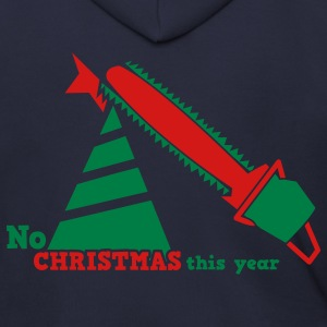 NO CHRISTMAS THIS YEAR with chainsaw i hate christmas Zip Hoodies/Jackets - Men's Zip Hoodie